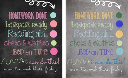 Back to School Daily Check List